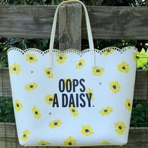 Kate Spade Oops a Daisy Flower Tote Bag Purse